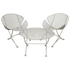 Mid-Century Maurizio Tempestini for Salterini Outdoor Set | From a unique collection of antique and modern side tables at https://www.1stdibs.com/furniture/tables/side-tables/
