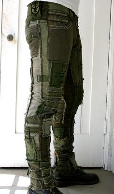 Army Pants by BoneBlack on Etsy - Maennerfrisuren.Club - Army Pants by BoneBlack on Etsy # Men& clothing - Mode Masculine, Summer Fashion Outfits, Cool Outfits, Beautiful Outfits, Fashion Mode, Mens Fashion, High Fashion, Post Apocalyptic Fashion, Post Apocalyptic Clothing