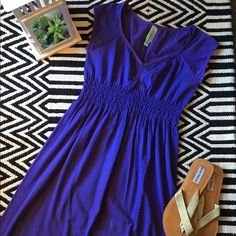 JJ Authentic purple dress JJ Authentic dress. Gently used. Great condition! 64 % cotton, 35% nylon, 1% spandex. Size M/L. Looks great with sandals or Keds Oxford shoes. JJ Authentic Dresses