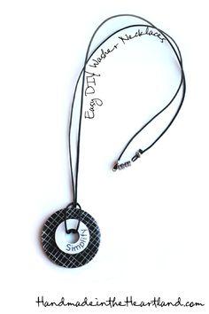 Easy DIY Washer Necklaces