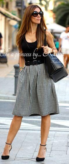 Gingham Skirt Outfit Inspo by Like A Princess Like.... Kuka