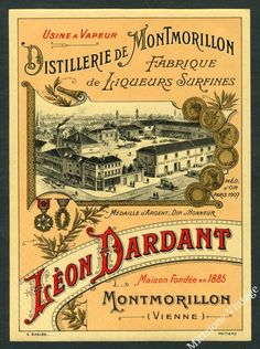 vintage wine labels for sale | Vintage French Alcohol Liquor Wine Label ... | Affiches et posters vi ...
