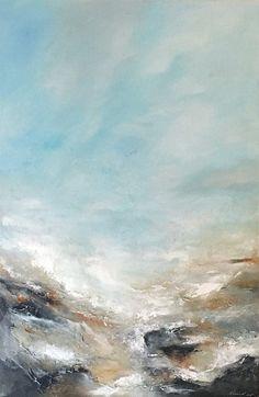Acrylmalerei - Abstraktes Bild Acryl Gemälde 120x80 cm SERENITY - ein Designerstück von Dworzak bei DaWanda #painting #malerei #himmel #landscape #artwork #original #malerei #landschaft #küste #coast