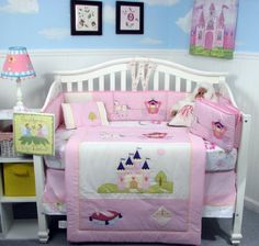 $139.99-$139.99 Baby This Set Fits all Toddler Beds and Cribs (Single or Convertible) (USA, UK, AU, Etc..) The Set includes following 8 pieces: * Hand Embroidery Crib Quilt * Hand Embroidery Crib Bumper * Fitted Sheet * Crib Skirt (Dust Ruffle) * Baby Booties * Baby Bib * Baby Pillow * Soho Classic baby carrier (Pink)color