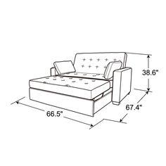 "Zipcode Design™ Evan Microfiber/Microsuede 66.5"" Square Arm Sleeper & Reviews | Wayfair Full Size Sofa Bed, Full Bed, Pull Out Bed, Sleeper Sofa, Queen Size Bedding, How To Make Bed, Living Room Furniture, Convertible, Evans"