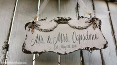 Mr and Mrs Sign | Wedding Sign | Just Married | Fairy Tale Wedding | Wedding Photo Prop | Cinderella Wedding | Personalized