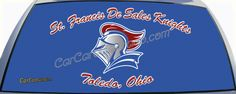 St. Francis de Sales High School Knights from Toledo, Ohio Custom Truck Rear Window Graphic Decals.  Celebrate your high school with a custom rear window graphic decal.