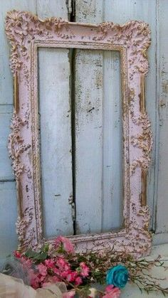Style idea a large vintage  frames which  can distress like…