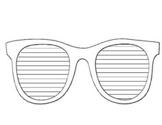 This is an 8.5 x 11 printable version of my sunglasses writing template.
