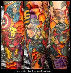 The avengers tattoo - Marvel Tattoo
