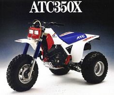 1985 Honda ATC 350X-- 350cc I had 10 years of riding this off road.  When It came out it was the largest 3 wheeler available.