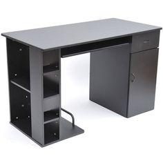 HomCom Small Home Office / Dorm Computer Desk - Black