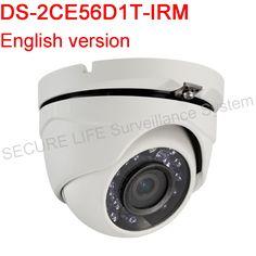 68.00$  Buy here - http://alijkg.worldwells.pw/go.php?t=32660373109 - English Version DS-2CE56D1T-IRM HD1080P IR Turret Camera IP66 weatherproof 2 MP high-performance CMOS