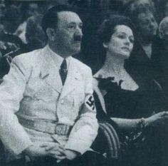 This is Hitler sitting next to Olga Chekhova -his favourite actress, and one he admired very much apparently.