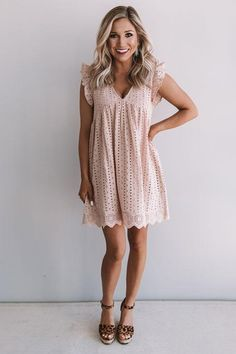 Sway Into Style Eyelet Romper in NaturalYou can find Boutique clothing and more on our website.Sway Into Style Eyelet Romper in Natural Casual Work Dresses, Elegant Dresses, Sexy Dresses, Cute Dresses, Dresses For Work, Formal Dresses, Wedding Dresses, Casual Summer Dresses, Beautiful Dresses