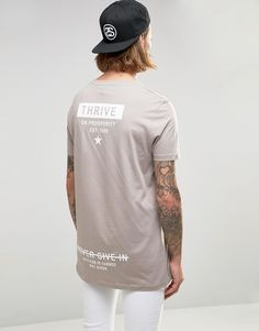 Buy ASOS T-Shirt With Thrive Star Back Print In Relaxed Skater Fit at ASOS. Tee Shirts, Shirt Print Design, Shirt Designs, T Shirt Company, Apparel Design, Shirt Style, Cool Outfits, Menswear, Men Fashion