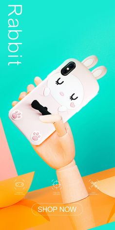 Giraffe&Rabbit Animal Cartoon Soft Silicone Cover Cute iPhone Ca Pink Rabbit, 3d Cartoon, Phone Cover, How To Look Pretty, Compliments, Giraffe, Smartphone, Shell, Iphone Cases