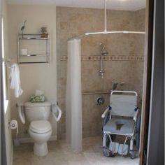 Disabled bathroom - Quality handicap bathroom design, small kitchen designs and universal designs by Ada Bathroom, Handicap Bathroom, Bathroom Photos, Steam Showers Bathroom, Bathroom Layout, Modern Bathroom, Master Bathroom, Bathroom Ideas, Bathroom Safety