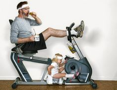 Father daughter workout World Best Father Dave Engledow