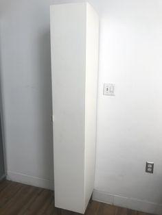 Ikea LILLANGEN High cabinet, white — Ikea Lillangen, Wardrobe Closet, Adjustable Shelving, Tall Cabinet Storage, Stationary, Furniture Design, Shelves, Inspirational, Wall