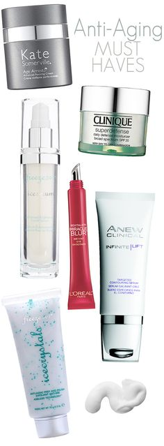Anti-Aging Must Haves: The best anti-aging cleansers, serums, eye creams and wrinkle creams.