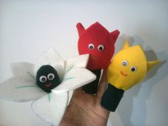 Finger puppet - 3 flowers (lily, tulips) | Flickr - Photo Sharing!