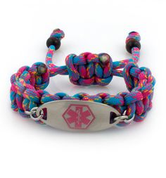 Party Girl Paracord Medical ID Bracelet