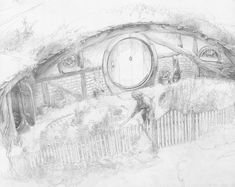 Alan Lee - The Shire  from The LotR Sketchbook