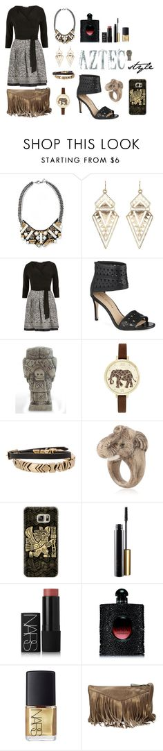 """Untitled #22"" by p-calkova on Polyvore featuring Charlotte Russe, Gina Bacconi, Via Spiga, NOVICA, Jessica Carlyle, House of Harlow 1960, Nach, Casetify, NARS Cosmetics and Yves Saint Laurent"