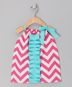 Take a look at this Pink Zigzag Chelsea Dress - Infant & Toddler by Caught Ya Lookin' on #zulily today!