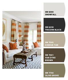 greige Sherwin-Williams gray paint pallate
