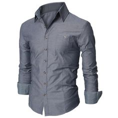 Mens Dress Shirt with Contrast Neck Band (D063)