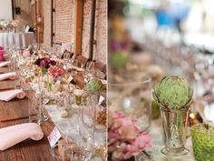 In fact, kinda obsessed with artichoke everything. Wedding Blog, Our Wedding, Wedding Times, Wedding Stuff, Happy Eyes, Peach And Green, Green Theme, Centerpieces, Table Decorations
