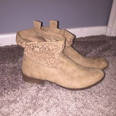 Tan Booties Like new!! Faded Glory Shoes Ankle Boots & Booties