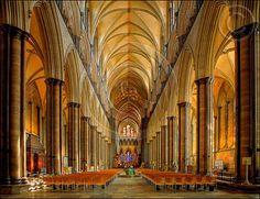 Salisbury Cathedral Interior, UK