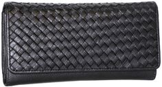 Woven Calfskin My Woven Wallet - Black: Zap organization issues away with the Nino Bossi My Woven Wallet.… #Hotels #CheapHotels #CheapHotel