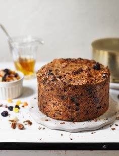 Tropical fruit and nut cake - This lovely moist cake, packed with golden fruits, is a lighter version of a classic fruit cake.