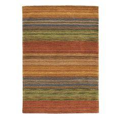 Brushstroke Rug in Multi (Stripe Pattern, Rug Sample) | Handmade Area Rugs from Company C