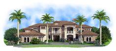 Florida Mediterranean House Plan 75933 Elevation