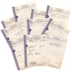 Vintage Handwritten Pharmacy Prescriptions Lot of 10