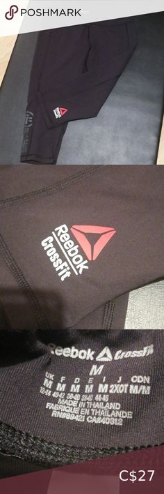 Reebok capris fitted Capri fitted medium Pre loved conditions Smokes pet free Black with red/white Reebok Pants & Jumpsuits White Reebok, Free Black, Pant Jumpsuit, Jumpsuits, Red And White, Capri, Pants For Women, Medium, Pets