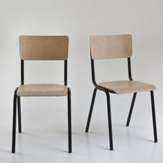 Image Set of 2 HIBA Stackable School Chairs La Redoute Interieurs - La Redoute