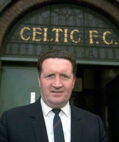 """Jock Stein Celtic player from and manager from took the """"Lisbon Lion's"""" to the championship game in 1967 against Milan and win the European cup. Retro Football, Football Shirts, Football Players, Football Football, Famous Freemasons, Celtic Fc, Association Football, Tribute, European Cup"""
