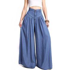 Denim Fashion, Fashion Pants, Fashion Outfits, Fashion Goth, Female Fashion, Trousers Women, Pants For Women, Clothes For Women, Women's Trousers