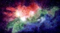 Step-by-step nebula & stars in a galaxy