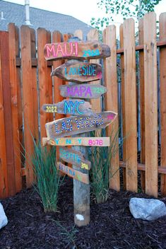 Destination Sign Post with favorite places. Hawaii, costa rica, etc....