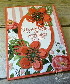 Lovely Botanical dies card