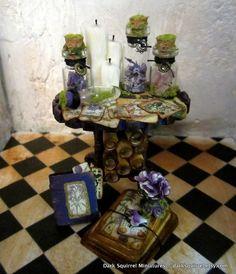 pinterest dollhouse miniatures | Botanical Mini Table ooak dollhouse miniature ... | Miniatures by D...