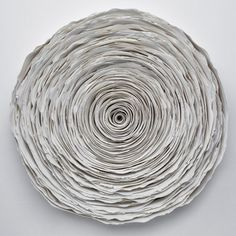Valeria Nascimento   'Spiral' 30cm x 30cm Porcelain (Inside perspex case)