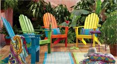 Colorful Adirondack chairs - need to get 2 more!